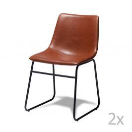 Sada 2 hnedých stoličiek Furnhouse Indiana