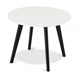 Čierno-biely drevený konferenčný stolík Furnhouse Life, Ø60 cm