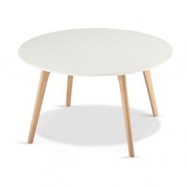 Biely drevený konferenčný stolík Furnhouse Life, Ø80 cm