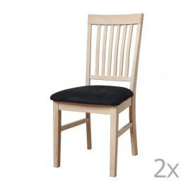 Sada 2 jedálnych stoličiek z dubového Furnhouse Mette