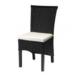 Čierna stolička z bambusu Furnhouse Larissa