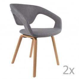 Sada 2 sivých stoličiek Zuiver Flexback