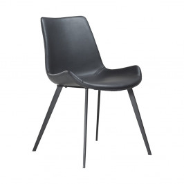 Čierna jedálenská stolička DAN–FORM Hype Faux