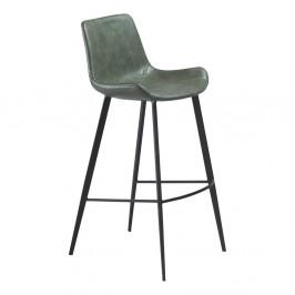 Zelená barová stolička DAN–FORM Hype