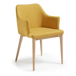 Horčicovožltá jedálenská stolička La Forma Danai