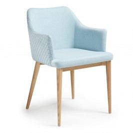 Svetlomodrá jedálenská stolička La Forma Danai