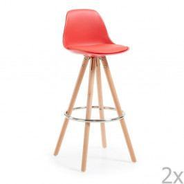 Sada 2 červených barových stoličiek La Forma Stag