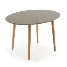 Rozkladací jedálenský stôl z bukového dreva La Forma Oakland, dĺžka 120-200cm
