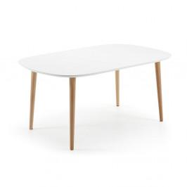 Rozkladací jedálenský stôl z bukového dreva La Forma Oakland, dĺžka160-260cm