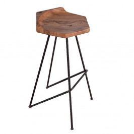 Barová stolička so sedákom z masívneho dubového dreva Flame furniture Inc. Ber-hex