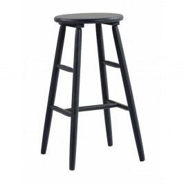 Čierna drevená barová stolička Folke Python, ⌀36 cm