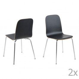 Sada 4 čiernych jedálenských stoličiek Actona Björn