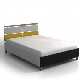 Dvojlôžková posteľ z borovicového a bukového dreva Skandica Vaxholm, 160×200cm