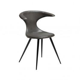 Sivá koženková stolička DAN-FORM Denmark Flair