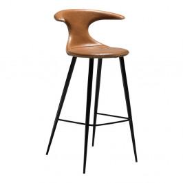 Hnedá barová stolička s koženkovým sedadlom DAN-FORM Denmark Flair