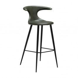 Zelená barová stolička s koženkovým sedadlom DAN-FORM Denmark Flair