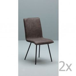 Sada 2 tmavohnedých stoličiek Design Twist Moen