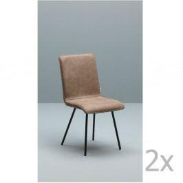Sada 2 svetlohnedých stoličiek Design Twist Moen