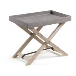 Sivý skladací stolík La Forma Stahl