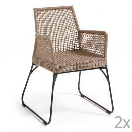 Sada 2 hnedých stoličiek La Forma Novak
