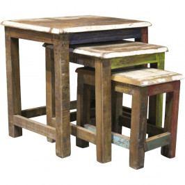 Sada 3 príručných stolíkov z exotických driev Støraa Avila