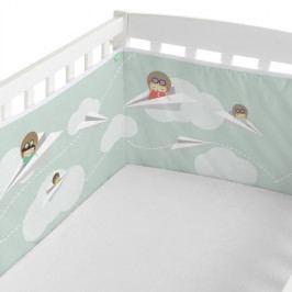 Textilný mantinel do postieľky Happynois Learning to Fly, 210×40cm
