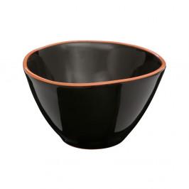 Čierna miska na cereálie z glazovanej terakoty Premier Housewares Calisto, ⌀ 16 cm