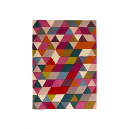 Vlnený koberec Flair Rugs Illusion Prism Pink Triangles, 120 × 170 cm
