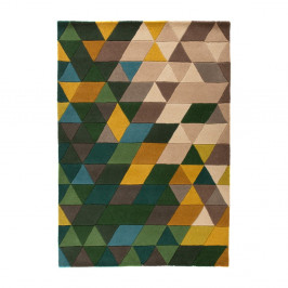 Vlnený koberec Flair Rugs Illusion Prism Green Triangles, 160×220cm