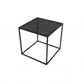 Čierny konferenčný stolík Take Me HOME Motivo, 42×42cm