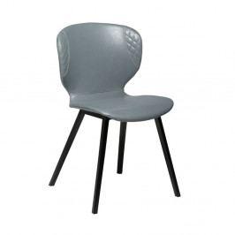 Sivá koženková jedálenská stolička DAN-FORM Denmark Hawk