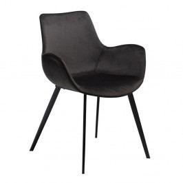Čierna jedálenská stolička s opierkami na ruky DAN-FORM Denmark Hype