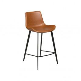 Svetlohnedá koženková barová stolička DAN-FORM Denmark Hype