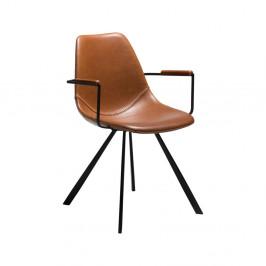Svetlohnedá jedálenská stolička s opierkami na ruky DAN-FORM Denmark Pitch