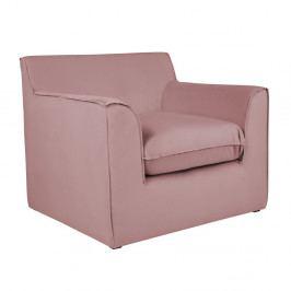 Ružové kreslo BSL Concept Mona