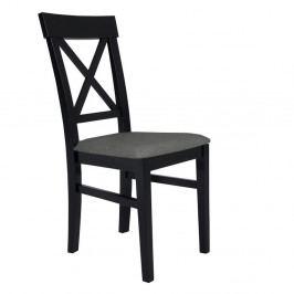 Čierna stolička s tmavosivým sedadlom BSL Concept Hinn