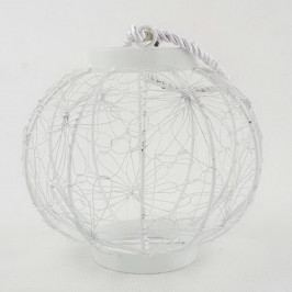 Biely kovový lampáš Dakls Dandelion