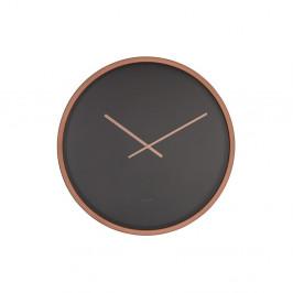 Čierno-medené nástenné hodiny Zuiver Time Bandit