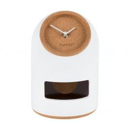 Biele stolové hodiny Zuiver Uno