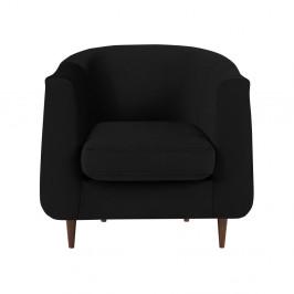 Čierne kreslo Kooko Home Glam