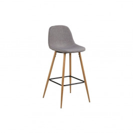 Sada 2 svetlosivých barových stoličiek Actona Wilma Barstool Vintage