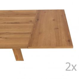 Sada 2 predlžovacích prídavných panelov ku stolu Actona Chara