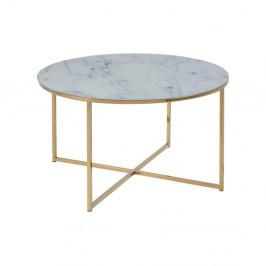 Konferenčný stolík Actona Alisma Golden, ⌀ 80 cm
