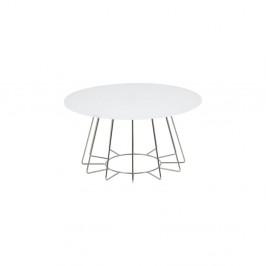Biely konferenčný stolík Actona Casia, výška 40 cm