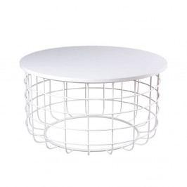 Biely konferenčný stolík sømcasa Celso