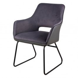 Tmavosivá stolička sømcasa Delia