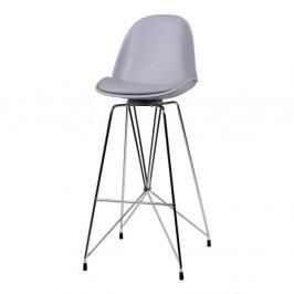 Sivá barová stolička sømcasa Brett