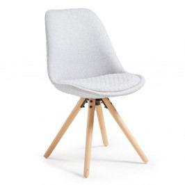 9326a4275366f Detail zboží · Svetlosivá jedálenská stolička s drevenou podnožou La Forma  Lars
