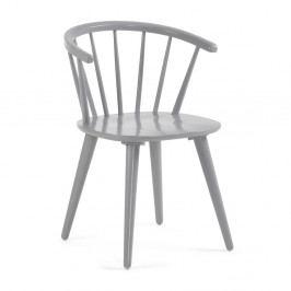 Sivá jedálenská stolička z dreva kaučukovníka La Forma Krise
