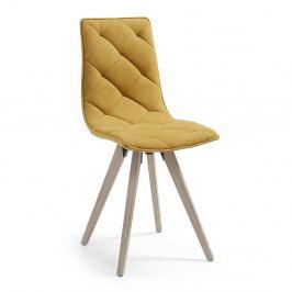 Horčicovožltá jedálenská stolička La Forma Tuk